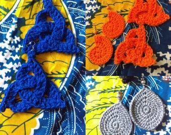 Empress Earrings - Handmade Crochet Earrings