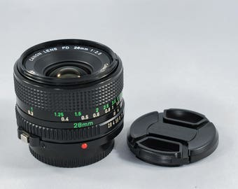 CANON FD 28mm f2.8 Wide-Angle Prime Lens with optional Canon Fd->Sony E/NEX Adapter