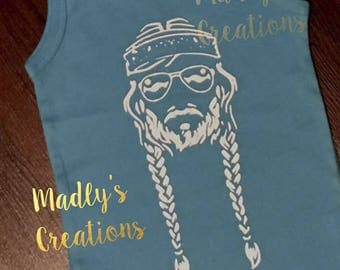 Willie Nelson Infant and Toddler Shirt/Tank