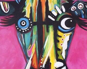 Basquiat style Bull 2017