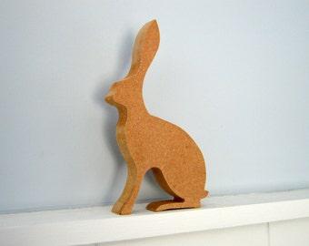 Hare, Bunny, Rabbit, Kids Craft Project, Craft Project, Decoupage, Decoupage Project, MDF Cutout,