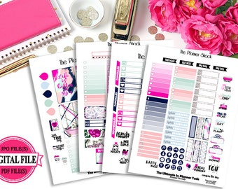 Pajamas - Big Happy Planner - Printable Planner Stickers