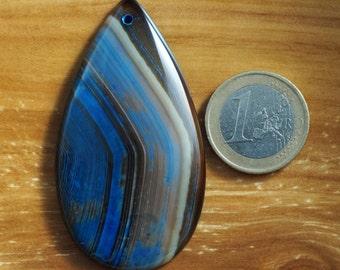 Natural, unique striped agate pendant stone (141)