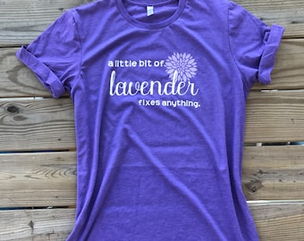 Super Duper Soft A Little Lavender Essential Oil Fixes Anything Everything Aromatherapy Oils Heather Purple Shirt, Unisex Jersey