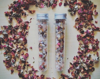Floral Bath Salts, Citrus Bath Salts, Tube of Bath Salts, Dead Sea Salts, Epsom Salts, Pink Himalayan Salts
