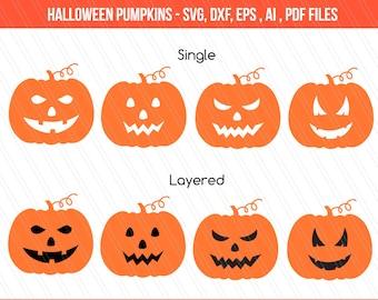 Halloween Pumpkin Cut Files, Pumpkin DXF, Pumpkin clipart ,Pumpkins, cricut, Pumpkin SVG , fall, halloween, digital download
