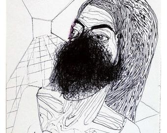 Figure study, original artwork