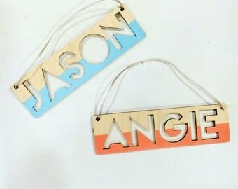 Mini cutout name plaque (rectangular)