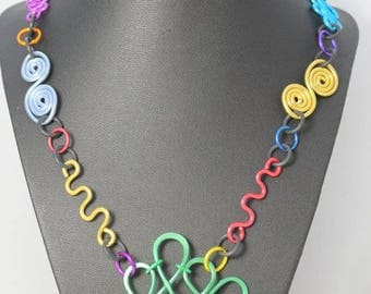Bright Cheerful Summery Glasses Chain Necklace CLRL5