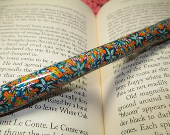 Writing Click Pen made with Polymer Clay Cane