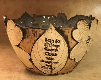 Medium Scripture Dogwood Bowl 37