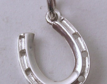 Genuine Solid 925 Sterling Silver Lucky Horseshoe Charm/Pendant