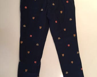 Vintage Navy crested Polo pants