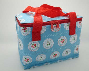 Blue Vintage Shabby Chic Doily Cool Bags - Insulated Cool Lunch Bag for Lunch Boxes