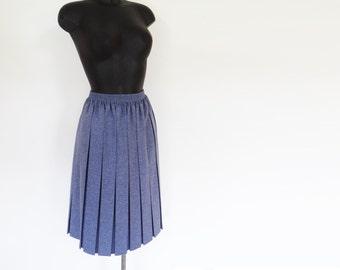 Curvy Girl Skirt, UK16-18, Vintage Skirt, Pleated Skirt, Blue, Boho, Festival Clothing, Ladies Vintage, Skirt, Hippe, Plus Size Clothing
