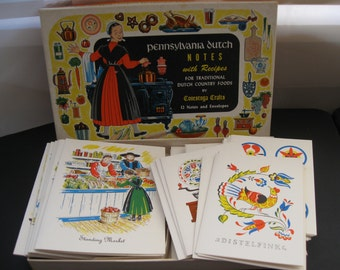 Vintage Pennsylvania Dutch Notes With Recipes