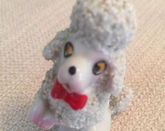 Poodle with Red Bow-Tie