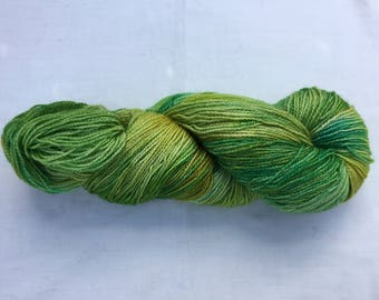 Hand dyed 100% Bluefaced Leicester superwash 4ply wool