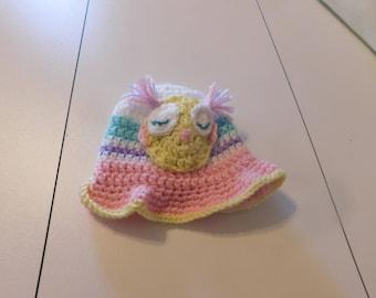 Crochet Owl Sun Hat