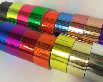 Colored Chrome Tape, Adhesive Tape, Free Shipping for USA, Choose Your Size and Color
