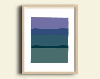 Abstract art, PRINTABLE abstract print, purple, turquoise , printable wall art, coastal colors, coastal decor, minimalist art, scandinavian