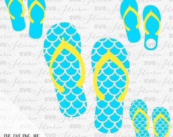 Flip flops svg,  flip flop svg, mermaid svg, mermaid flip flops, flip flops monogram, mermaid monogram svg, summer svg, beach svg, dxf