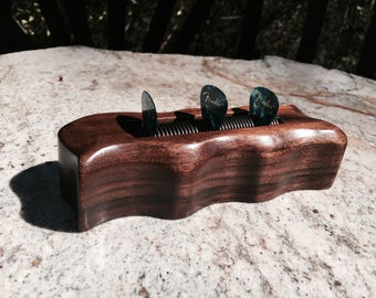 Guitar pick holder, Walnut