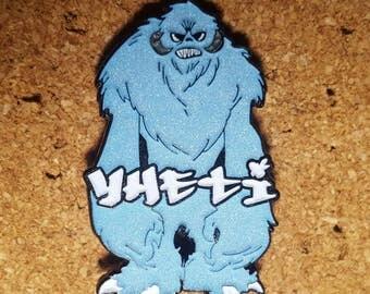YHETI Hat Pins Sale. LE40 Blue glow in the dark YHETI pin