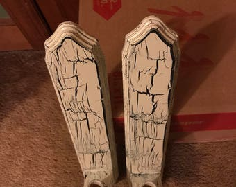 Pair of Weathered Tapered Candle Holders