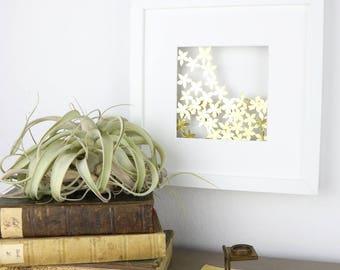 Golden Flowers - Handmade Papercut