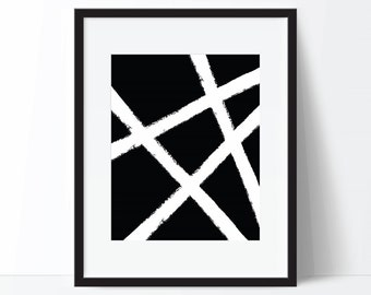 Abstract Print, Black and White Art, Abstract Art, Modern Print, Black and White Print, Digital Download, Printable Wall Art, Digital Print