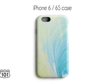 Marble iPhone Case, Plastic iPhone Case, Yellow iPhone Case, Blue iPhone Case, IPC1022