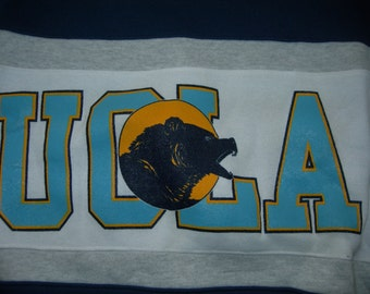 VTG UCLA crew sweater  by Nutmeg NCAA  Navy white grey size large or x-large made in the usa new without tags