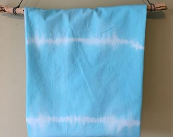 Ready to ship toddler bedding tie dye Aqua cot bed fitted sheet