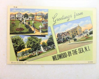 Vintage Postcard Wildwood-By-The-Sea, Wildwood, NJ