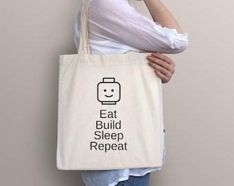 Tote Bag, Lego Bag, Lego Tote Bag, Lego Gift, Custom Tote Bag, Shopping Bag, Funny Tote Bag, Lego Wedding, Cotton Bag