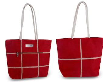 Yutton Fine-Jute Premium Handbag/Tote - Red (TB41301)