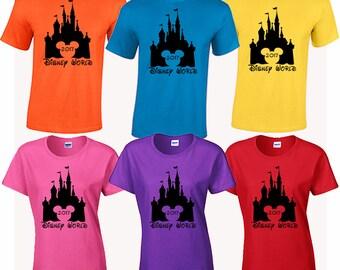 Disney World 2017 family vacation tee shirt tshirt Magic Kingdom Epcot Animal Kingdom MgM Studios Pandora the World of Avatar Space mountain