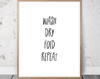 Laundry Room Decor, Laundry Room Sign, Laundry Print, Laundry Wall Art, Laundry Wall Quote, Laundry Art, Instant Download Printable