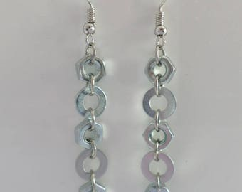 Earrings - industrial style