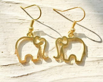 ELEPHANT Spirit Animal Earrings (Gold)
