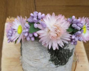 Dried Flower Crown, wedding wreath, Dried Floral Headband, Bridal Crown, Rustic Headband, Floral Head Wreath, Hair Accessories, dried flower