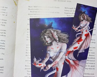 Zodiac Sign Pisces Bookmark + Postcard