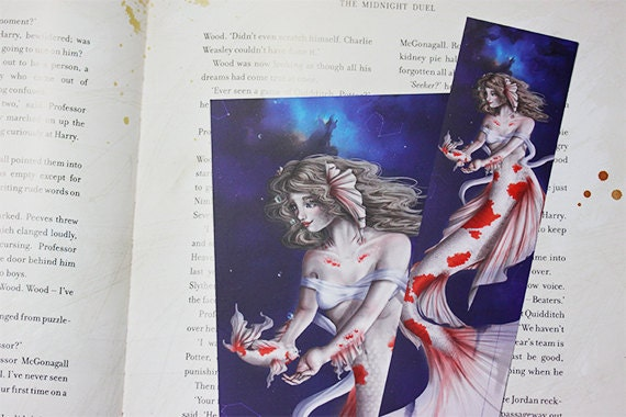 Zodiac Sign Pisces Bookmark + Postcard
