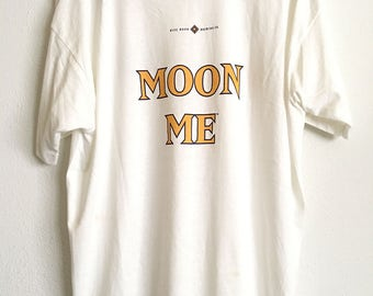 1980s BLUE MOON Brewing Co. MOON Me Oversized Vintage T Shirt // Size Xxlarge