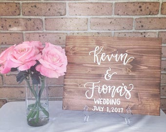 Wood sign wooden sign wedding sign name wedding sign personalized wedding sign rustic wedding sign rustic wedding decor wedding decorations
