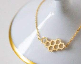 Gold plated bracelets with HONEYCOMB trailer