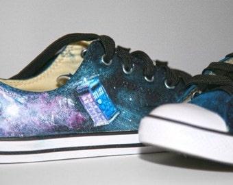 Doctor Who Galaxy Tardis Converse