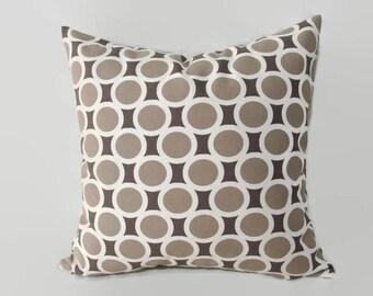 Beige Pillow, Gray Pillow, Greige Pillow, Greige Bed Pillow, Beige Bed Pillow, Greige Pillow Cover, Grey Decorative Pillow, Size 18x18 inch