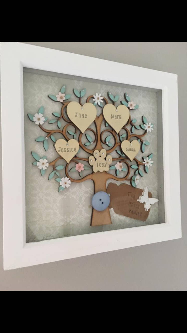 Family Tree Frame Wooden Family Tree Personalised Family